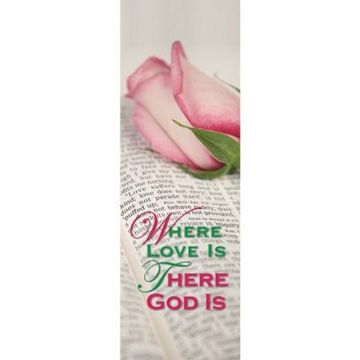 Where Love Is - Fabric Banner (2' x 6')   -