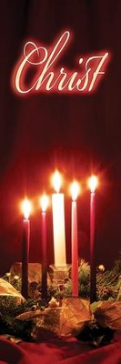 Advent Candles - Christ Banner (2' x 6')  -