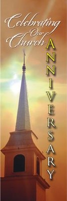 Church Anniversary Banner (2' x 6')  -