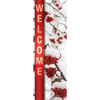 Welcome - February (Winter) Banner (2' x 6')  -