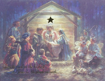 Glory to God Nativity Christmas Cards, Box of 18  -     By: Kathy Fincher