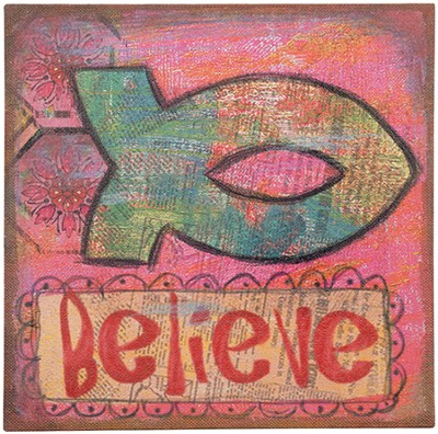 Christianbook.com: Believe, Ichthus Wall Art