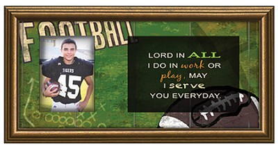 Lord, In All I Do, Football Photo Frame  -