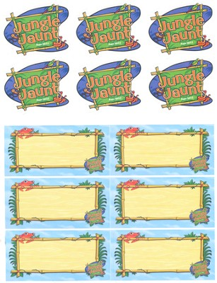 Name Tag And Logo Stickers, pack of 12   -