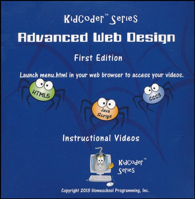 Kid Coder: Advanced Web Design Supplemental Instructional DVD  -
