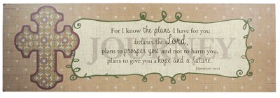 Journey, For I Know the Plans Plaque  -