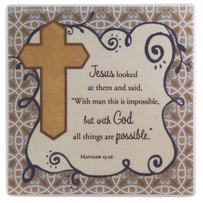 Faith, All Things Possible Tile  -