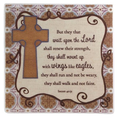 Hope, Wait Upon the Lord Tile  -