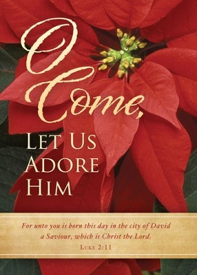 O Come, Let Us Adore Him, Box of 12 Christmas Cards  -