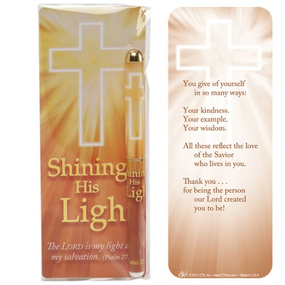Shining His Light Pen and Jumbo Bookmark Gift Set  -