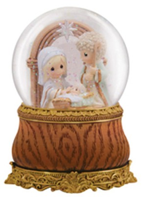 Holy Family Water Globe, Precious Moments  -     By: Precious Moments
