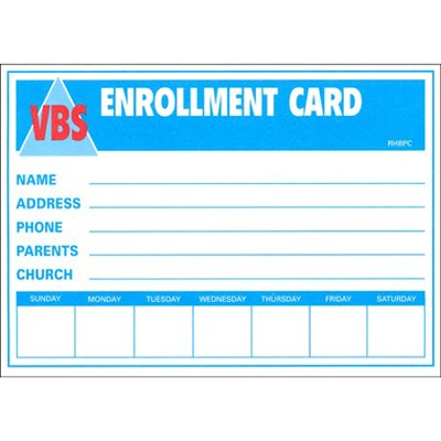 Enrollment Cards, pack of 50  -