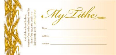 My Tithe (Leviticus 27:30) Envelopes, 100   -