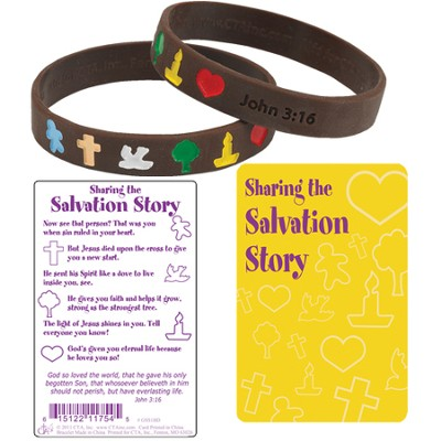 Spanish Salvation Story Silicone Bracelet with Card    -