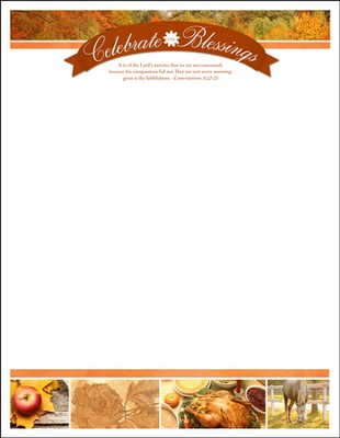 The Lord's Mercies (Lamentations 3:22-23) Letterhead, 100  -