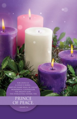 Prince of Peace (Isaiah 9:6) Advent Bulletins, 100  -