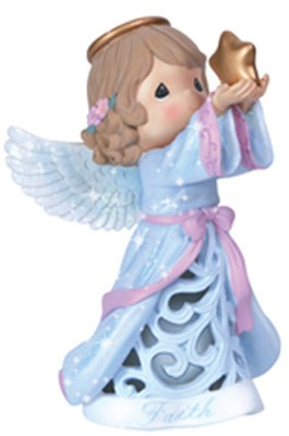 Faith Angel Figurine, LED, Precious Moments  -     By: Precious Moments