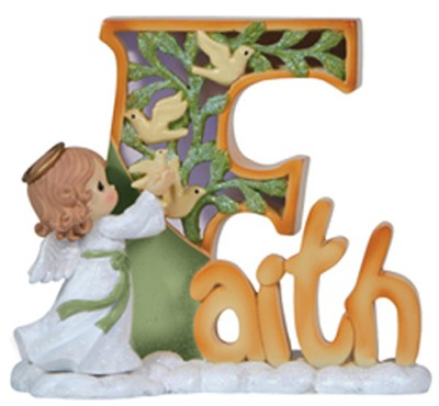 Faith Angel, LED, Precious Moments  -     By: Precious Moments