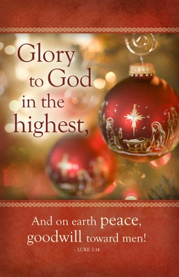 Glory To God In The Highest (Luke 2:14) Christmas Bulletins, 100  -