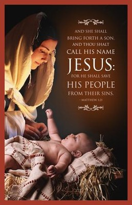 And They Shall Call His Name Jesus (Matthew 1:21) Christmas Bulletins, 100  -