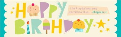 Happy Birthday (Philippians 1:3) Bookmarks, 25  -