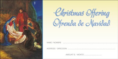 Jesus, Lord, At Thy Birth, Offering Envelopes (Spanish/English) 100  -