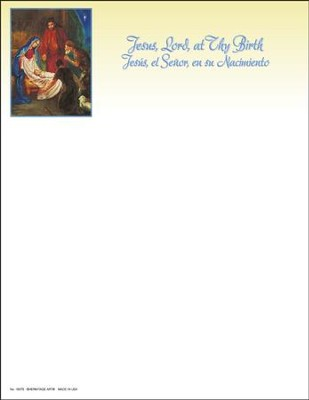 Jesus, Lord, At Thy Birth, Letterhead (Spanish/English) 100  -
