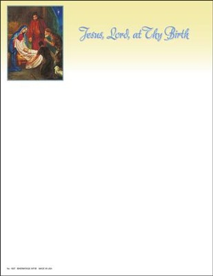 Jesus, Lord, At Thy Birth, Letterhead, 100  -