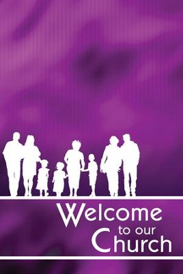 Welcome to Our Church Folders (Matthew 18:20, NIV) Pack of 12  -