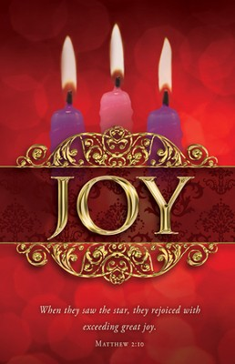 Joy (Matthew 2:10) Advent Bulletins, 100  -