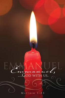 Emmanuel, God With Us (Matthew 1:23) Candlelight Service  Bulletins, 100  -
