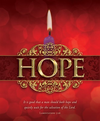 Hope (Lamentations 3:26) Large Advent Bulletins, 100  -