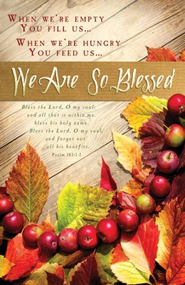 We Are So Blessed (Psalm 103:1-2) Bulletins, 100  -