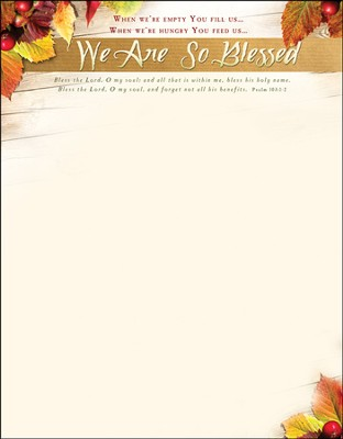 We Are So Blessed (Psalm 103:1-2) Letterhead, 100  -
