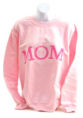 Blessed To Be A Mom Sweatshirt, X-Large (46-48)  -