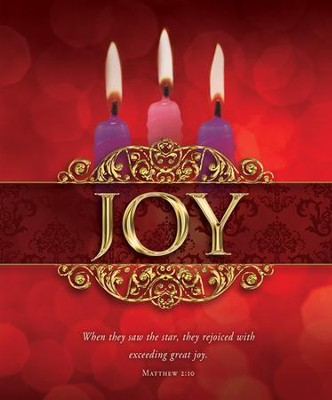 Joy (Matthew 2:10) Large Advent Bulletins, 100  -