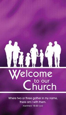 Welcome to Our Church Pew Cards (Matthew 18:20, NIV) Pack of 50  -