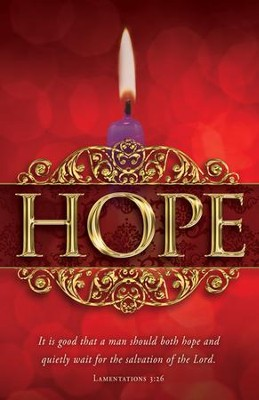 Hope (Lamentations 3:26) Advent Bulletins, 100  -
