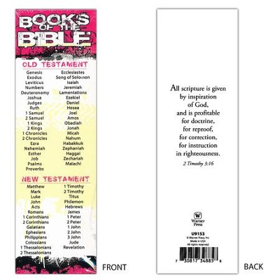 Books of the Bible (2 Timothy 3:16) Bookmarks, 25  -