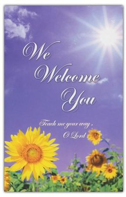 We Welcome You, Welcome Pew Cards Package of 25  -