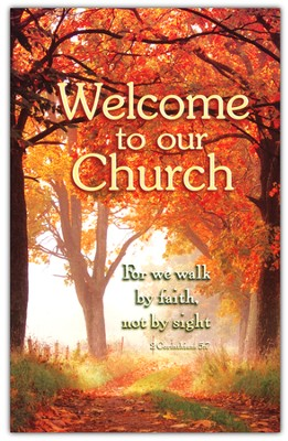 Welcome to Our Church (2 Cor. 5:7), Welcome Pew Cards Package of 25  -