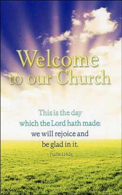 Welcome to Our Church (Psalm 118:24), Welcome Pew Cards   -