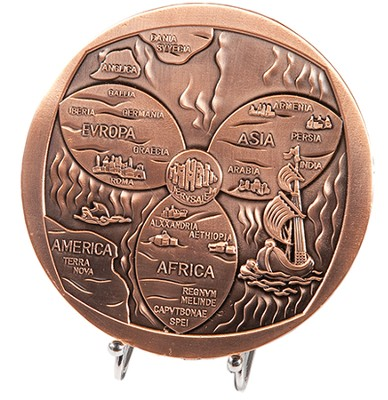 Jerusalem Medallion, with Stand  -