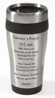Traveler's Prayer Travel Mug 14oz    -