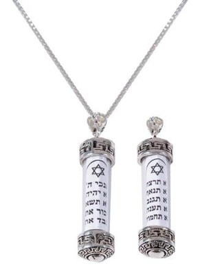 Ten Commandments Necklace  -