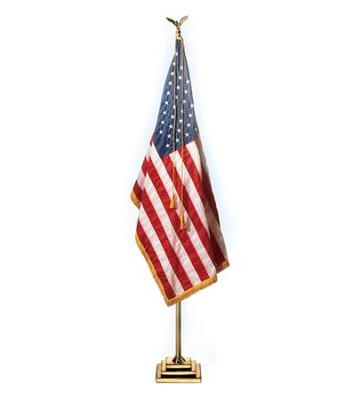 Brass Flag Pole with 3-Step Base (Eagle Topper), 1011⁄8 High  -
