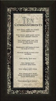 Ten Commandments Framed Print  -