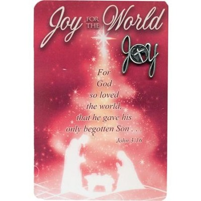 Joy for the World Lapel Pin with Pocket Card  -