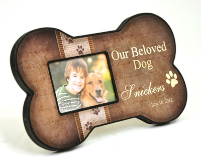 Personalized, Dog Bone Photo Frame, Our Beloved Dog      -