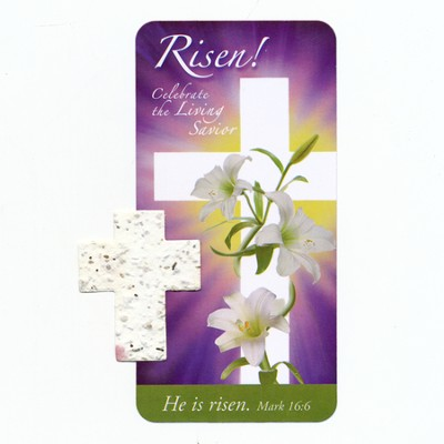 Risen! Celebrate the Living Savior Seedcross and Bookmark  -